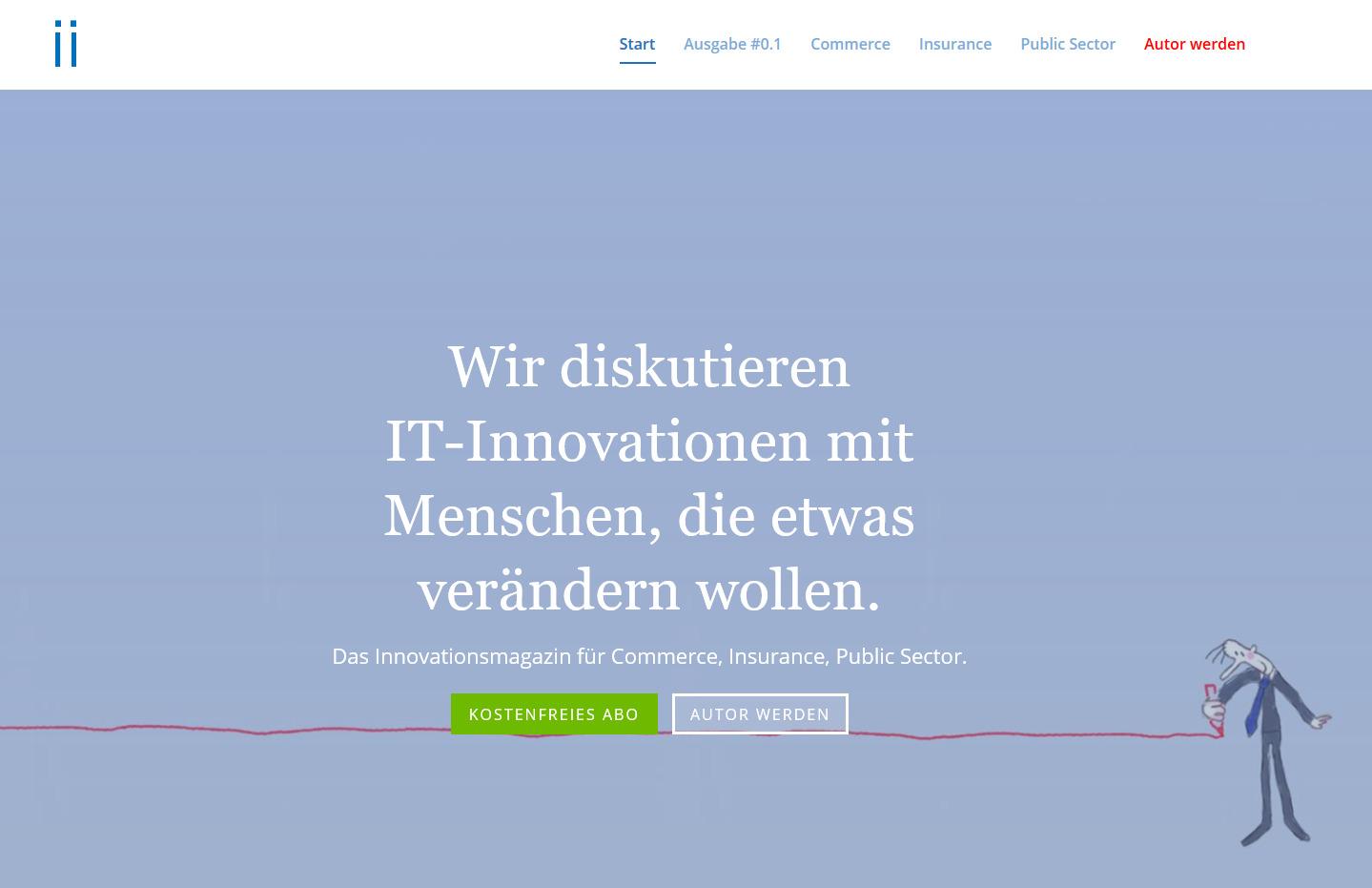 Die Website des ii Magazins ist online.